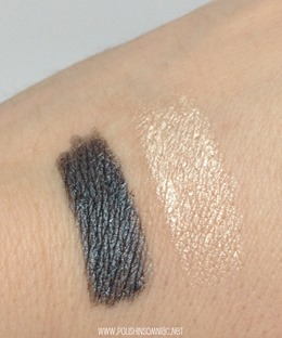 Essence Stays No Matter What Eyepencil & Shadow - Gorgeous Grey and Whipped White Frosting swatches
