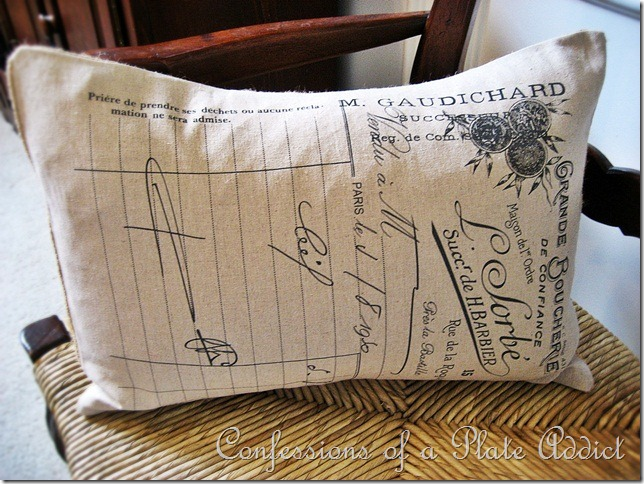 CONFESSIONS OF A PLATE ADDICT French Tea Towel Pillow 2
