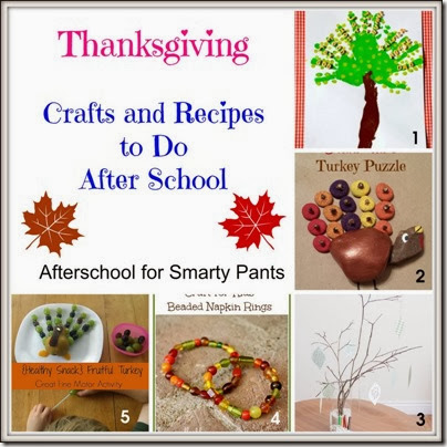 Thanksgiving Crafts and Recipes: Afterschool Blog Hop