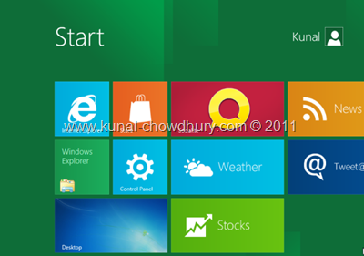 25. Finally the Windows 8 Start Screen