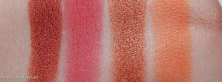 NYX Hot Single Eyeshadows Heat Bad Seed Showgirl LOL swatches