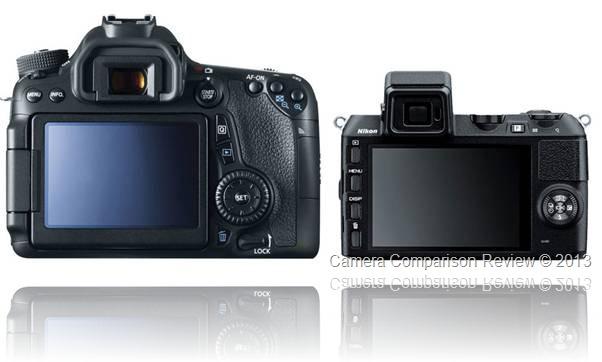 Canon EOS 70D vs Nikon 1 V2