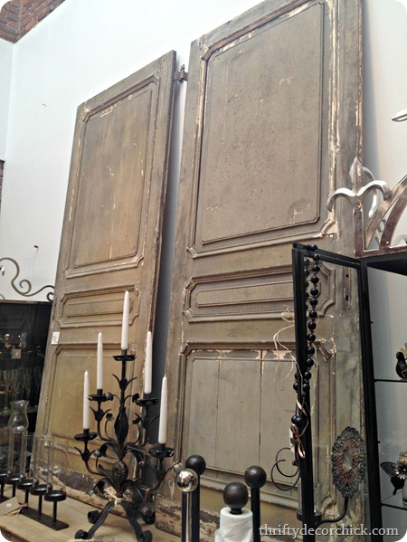 large old doors