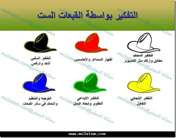 القبعات الست
