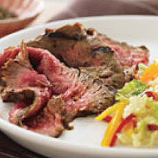 Marinated Flank Steak with Sweet-Hot Slaw
