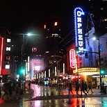 Granville street during the weekend in Vancouver, British Columbia, Canada