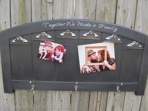 repurposed headboard photo display (21)