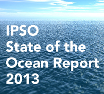 Cover of the International Programme on the State of the Ocean (IPSO) report 2013. Graphic: IPSO