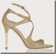 Jimmy Choo Textured Lame Sandal