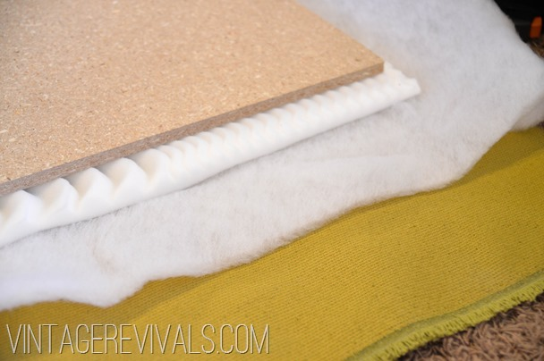 DIY Upholstered Headboard Tutorial @ Vintagerevivals.com