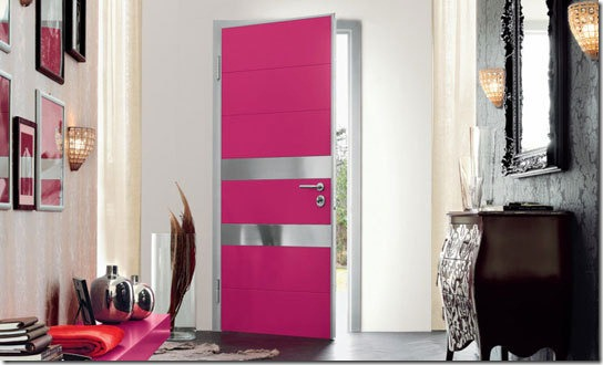 pink interior door via apartment therapy