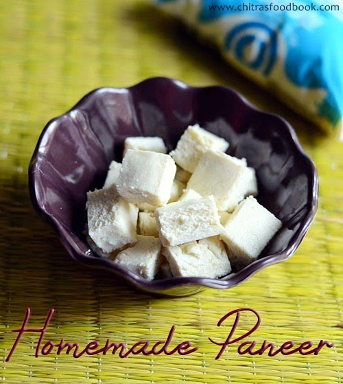 Homemade paneer recipe