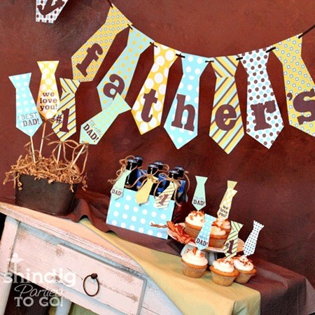 Father's Day Party Printable from Amanda's Parties TO GO