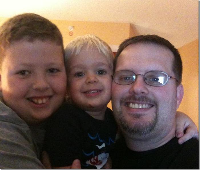 Greg and his boys