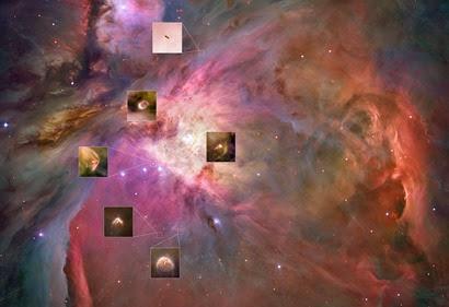 discos protoplanetários descobertos na M42
