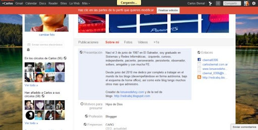 Cómo editar el perfil el Google+ plus img2