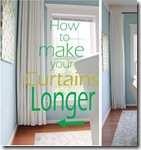 making curtains longer