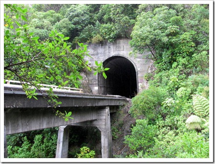 Main trunk railway line above Ohau stream built in 1937.