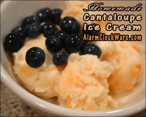 homemade cantaloupe ice cream