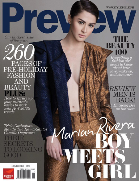 Marian Rivera covers Preview Nov 2012