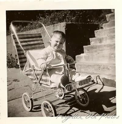 Baby in stroller 1960's