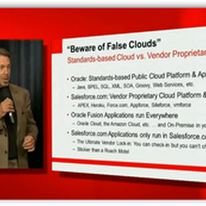 Oracle Announces Open Standards Based Oracle Clouds and Oracle Social Network For Their Fusion Applications (Video)