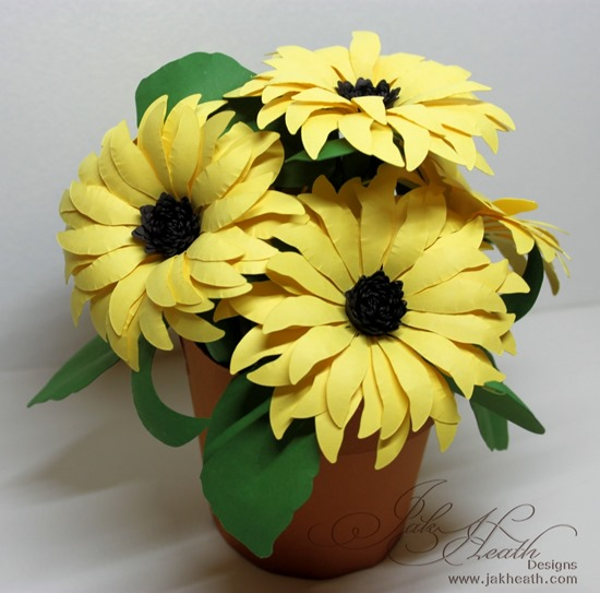 Sunflower pot1