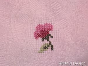 Rose# auf# Damast