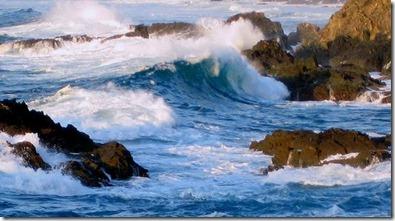 Ondas do mar de Vigo