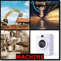 MACHINE- 4 Pics 1 Word Answers 3 Letters