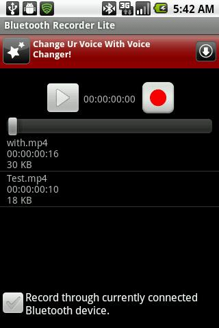 Bluetooth Recorder Lite