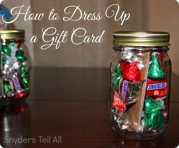 Dress up a gift card
