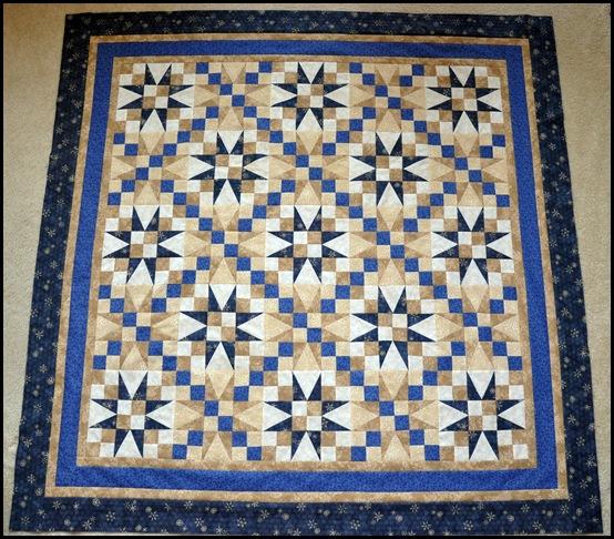 Indigo Stars quilt 002