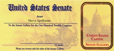 Sheva Apelbaum Senate Pass