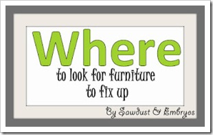 Where to Look for Furniture to Fix Up - Tips and tricks for the best places to find furniture that's ready for a makeover