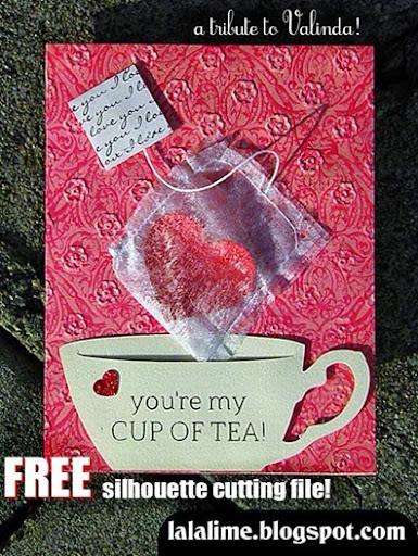 "You're MY cup of tea! FREE ""Tea-Cup cutting file for your Cameo!"
