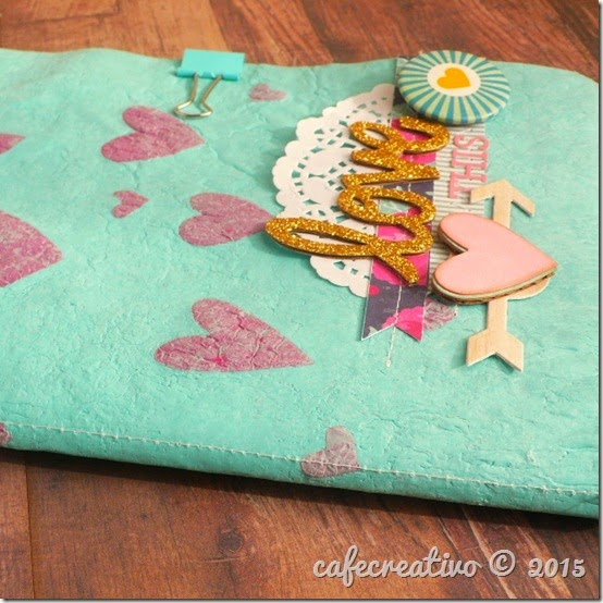 cafecreativo - sizzix big shot - scrapbooking - mini album - sacchetti plastica fusi
