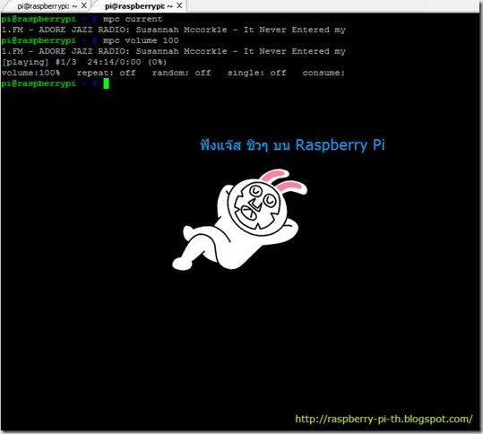 raspberry pi play music from radio online