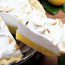 Lemon Meringue Pie with Hazelnut Shortbread Crust