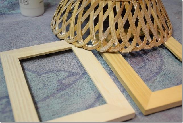 whitewashing basket and frames