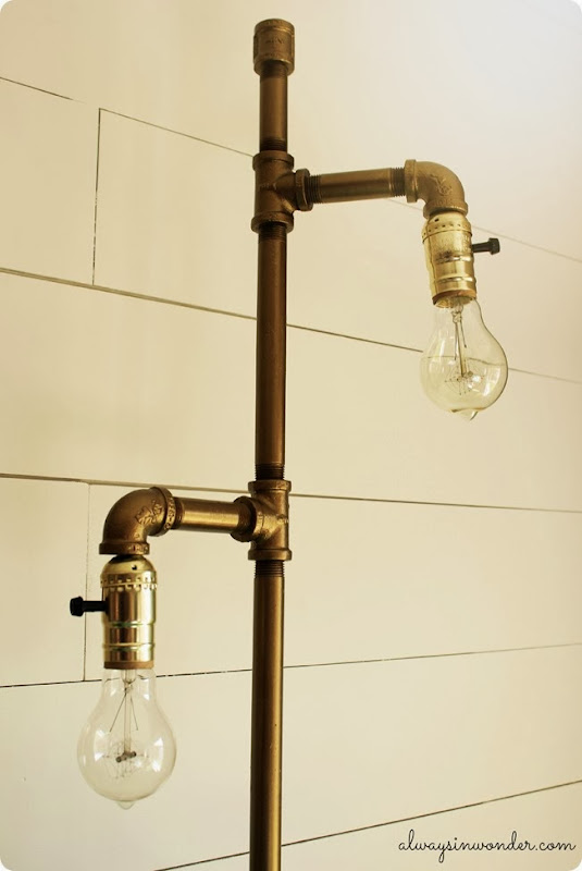 diy industrial pipe 2 light lamp