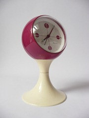 Blessing, West Germany alarm clock, maroon