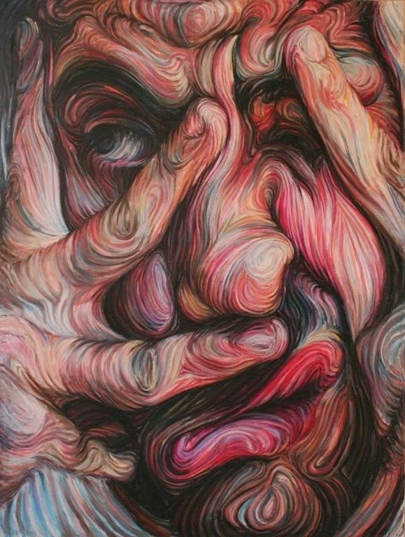 Αυτοπροσωπογραφία, λαδοπαστέλ σε καμβά, 160Χ120cm, Νίκος Γυφτάκης