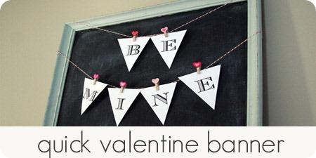 quick valentine banner