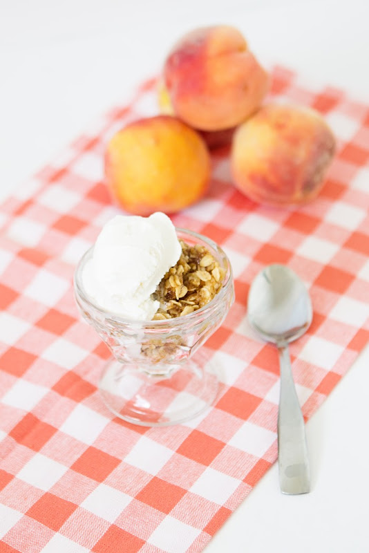 Peach Crisp and Homemade Ice Cream Recipe