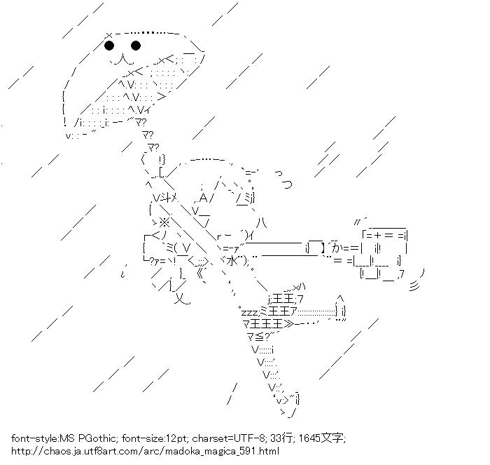 魔法少女まどか☆マギカ,巴マミ,雨,傘,台風