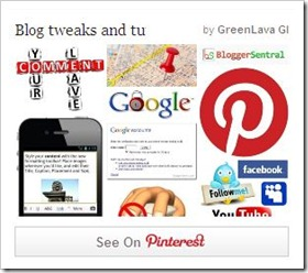 pinterest recent pins widget