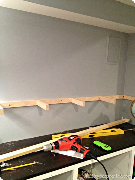 how to build raised dryer shelf