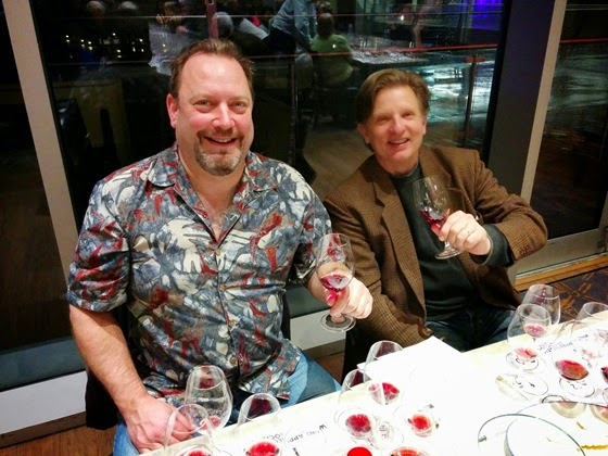 BCWAS President Brian Glaum works his way through a dozen exciting Pinot Noir alongside Winemaker Bradley Cooper.