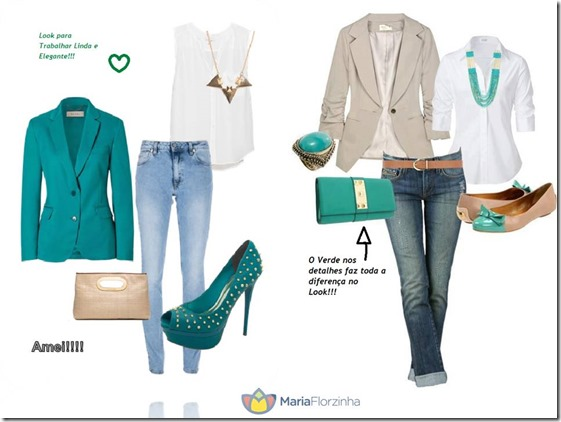 Dica de Look para Trabalho com Verde Esmeralda